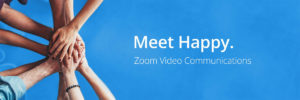 Image of Zoom US meet happy hands