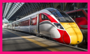 Image of Azuma High Speed train in Darlington Train station, just 4 minutes walk from Zoom Conferencing in Central Darlington